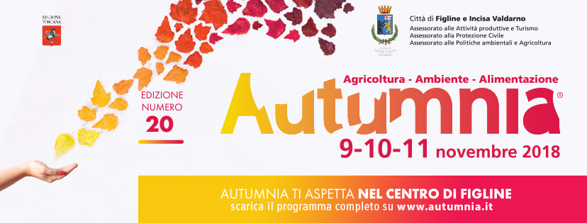 Venti anni di Autumnia a Figline Val d'Arno 9-11 novembre 2018